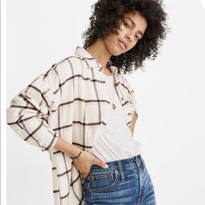 NWT Madewell Flannel Bromley Shirt